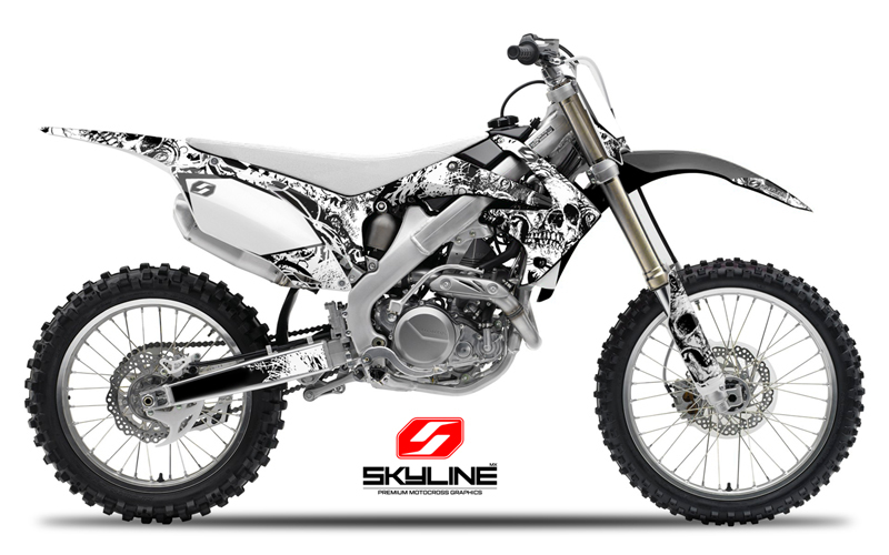 YAMAHA YZ F  YZF GRAPHICS KIT MOTOCROSS DIRT - Decal graphics for dirt bikes